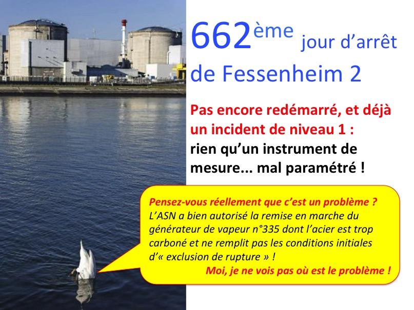 Pas encore redémarré, mais déjà un incident de niveau 1 sur le réacteur n°2