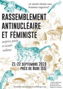 Weekend antinucléaire et féministe - 21-22 septembre @ Près de Bure