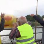 bouée jetée dans le Rhin